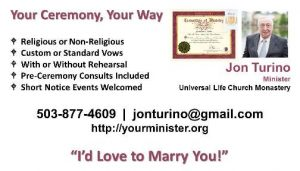 Wedding officiants in portland oregon wedding ministers in portland please see my facebook page for some useful forms and other information in the photos section i also do vow renewal ceremonies if that is a service that colourmoves
