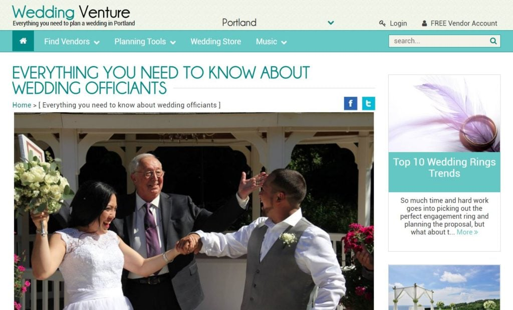 Wedding Blog Wedding Officiant Jon Turino Minister In Portland